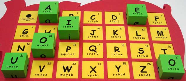 vowels consonants abc english alphabets phonics blocks