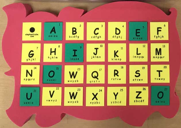 english alphabets spelling blocks cubes
