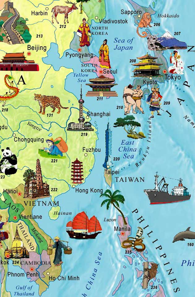 Illustrated map of the world for kids in english gumiabroncs Choice Image