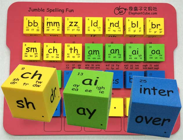 english spelling blocks phonics patterns word family