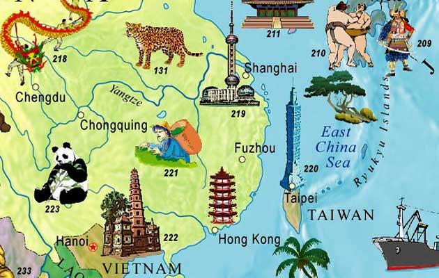 兒童英文世界地圖