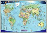 world map for kids children
