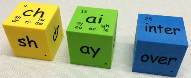 english phonics patterns cubes