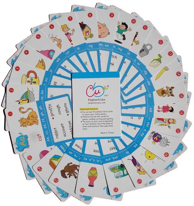 兒童美語 英文學習 字卡 閃卡教學 字母組合發音 單字 生字