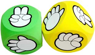 scissors paper stone game cubes
