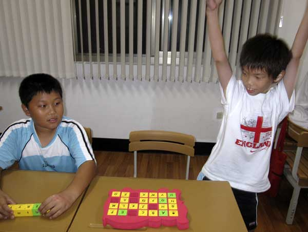 小朋友學英語 學童課堂參與