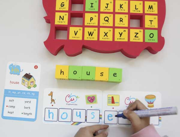 flashcards write abc letters